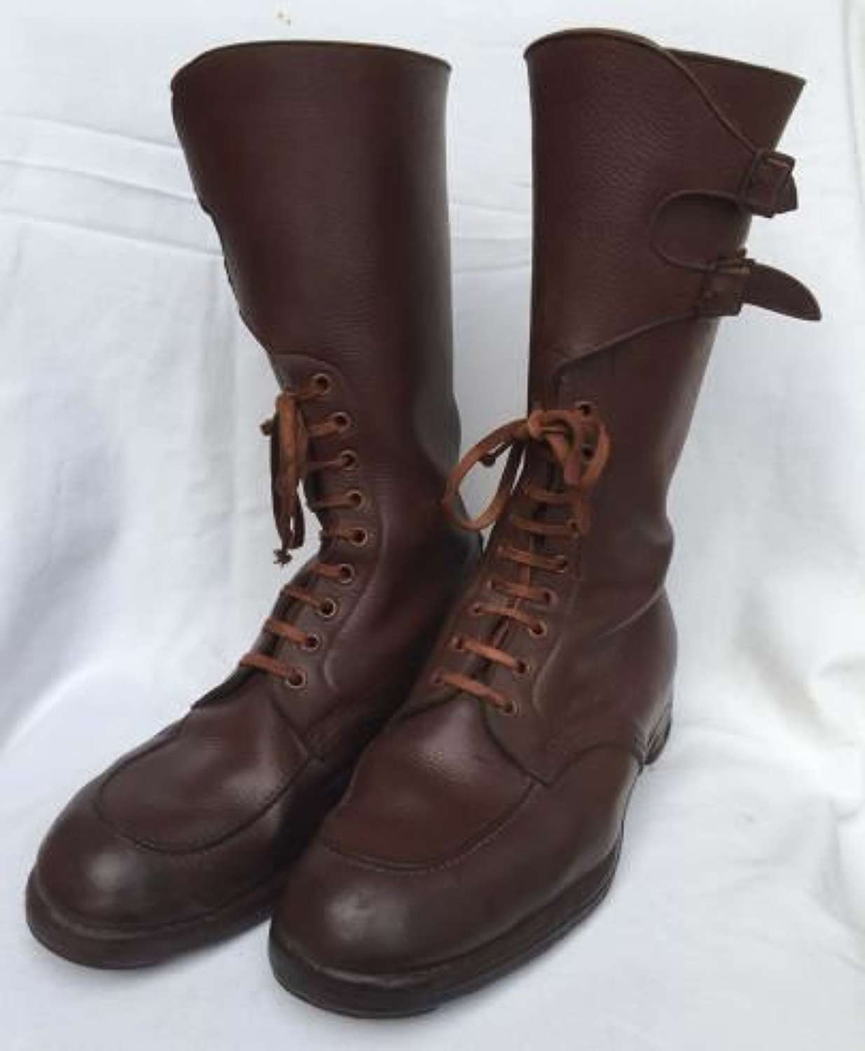 1944 Dated Officers Boots By John White - Size 8