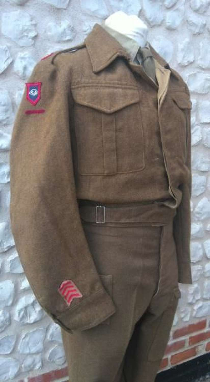RAMC Majors Battledress Blouse and Trousers