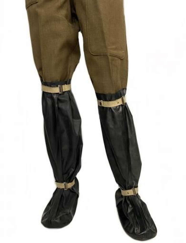 Original 1940 Dated British Anti Gas Boots