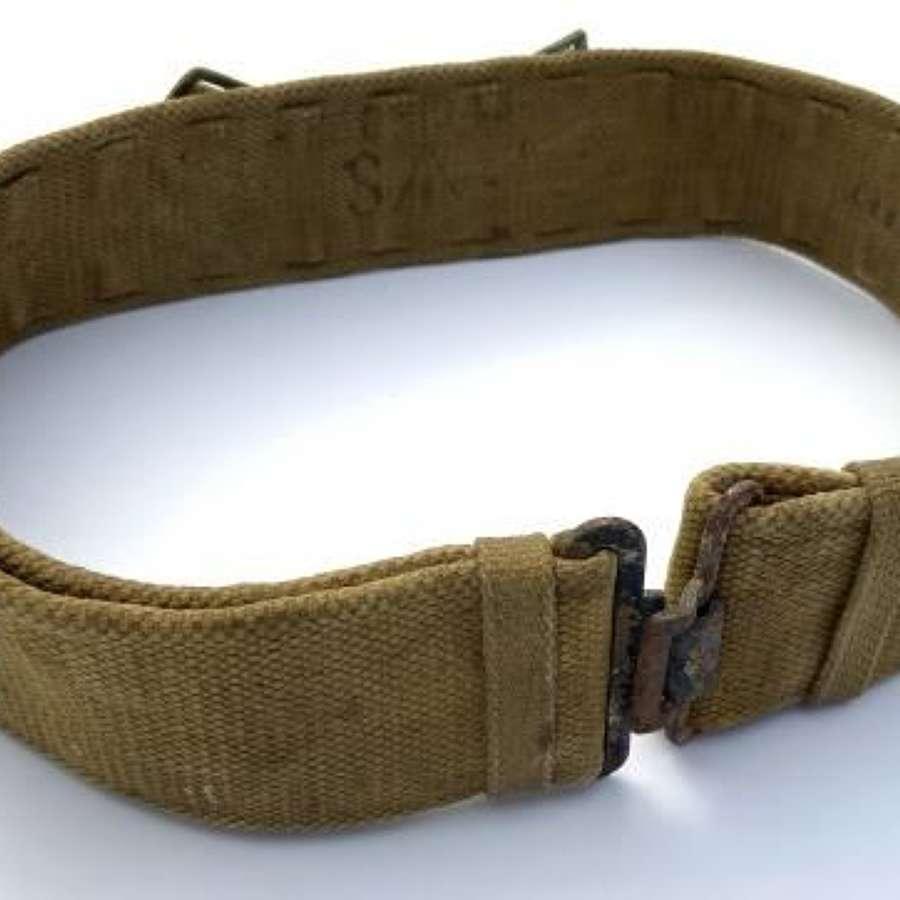 Original WW2 1943 Dated British Army 1937 Economy Pattern Webbing Belt