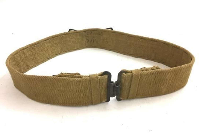 Original 1943 Dated British Army 1937 Pattern Webbing Belt - Size Small