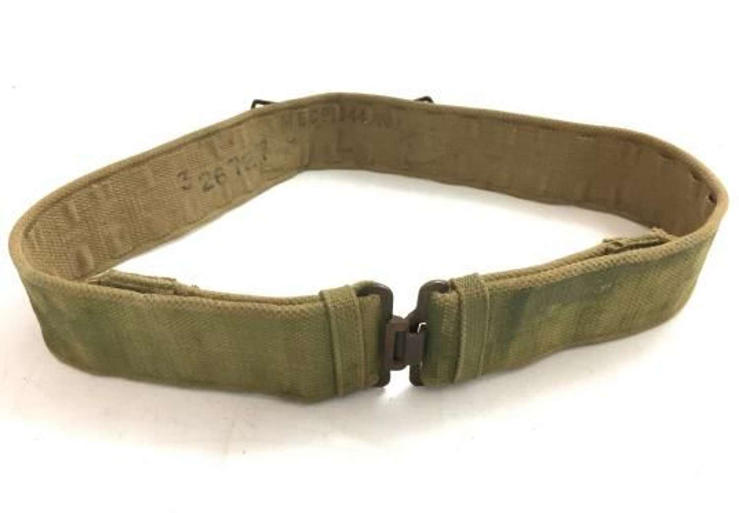 Original 1944 Dated 1937 Pattern Webbing Belt - Size Large