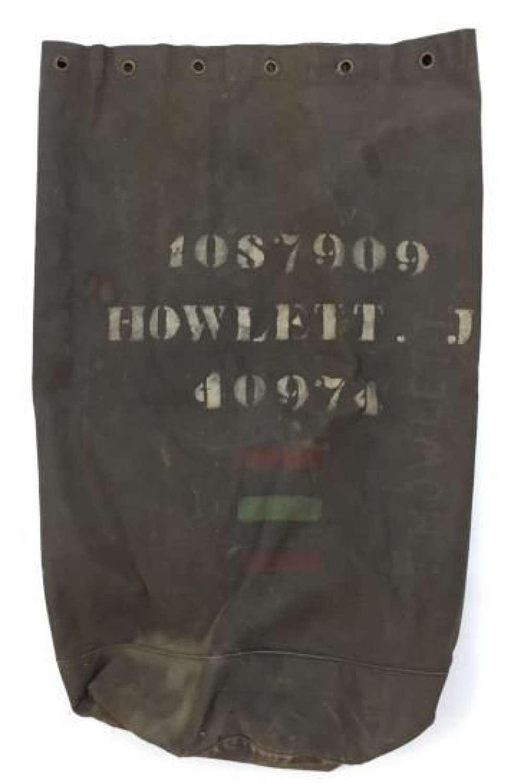Early World War Two Black British Army Kit Bag