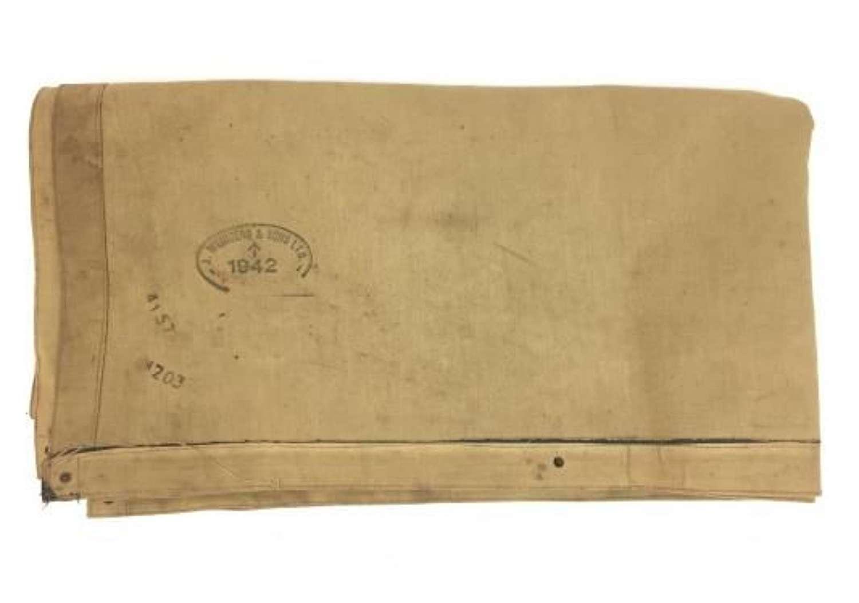 Orignal 1942 Dated British Army Rubberised Ground Sheet