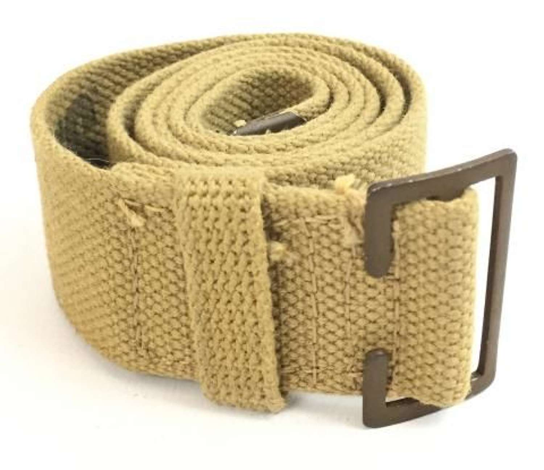 1943 Dated Canadian Webbing Trouser Belt