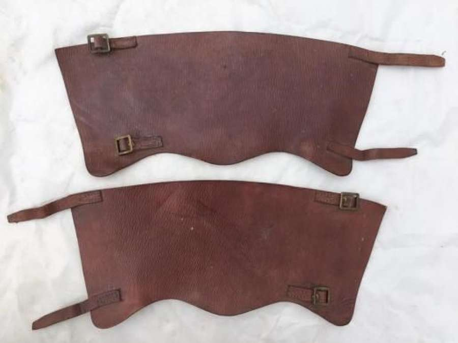 1942 Dated 1939 Pattern Leather Anklets