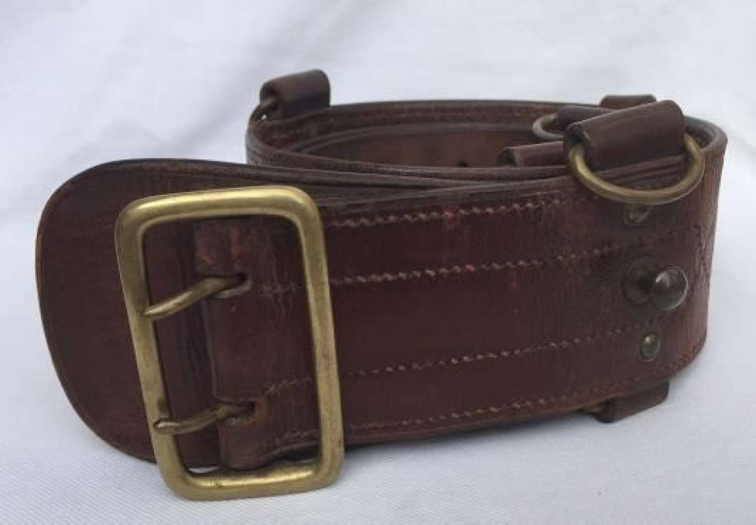 1941 Dated British Army Sam Browne Belt With Double D-Rings