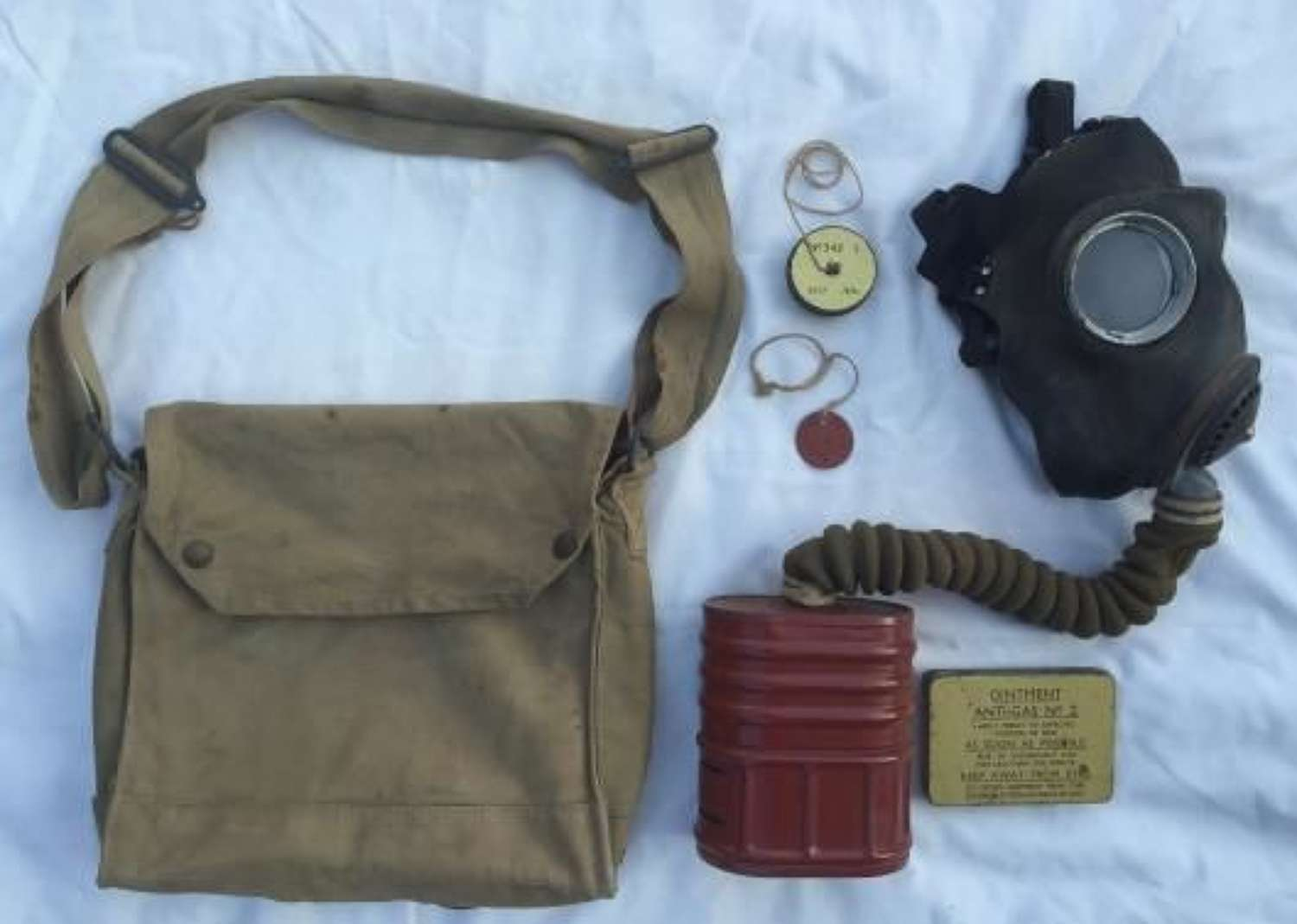 1942 Dated Mk VII Chest Respirator Named To Fuller