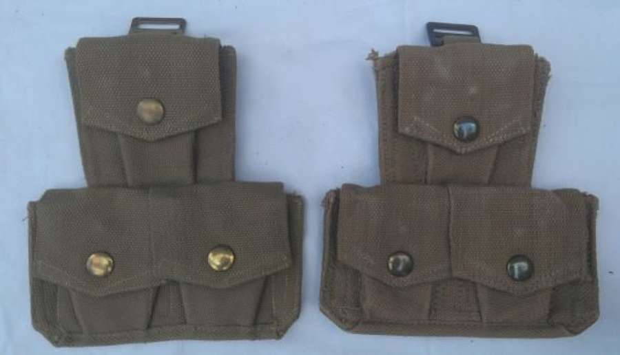1940 Dated Webbing Pouches