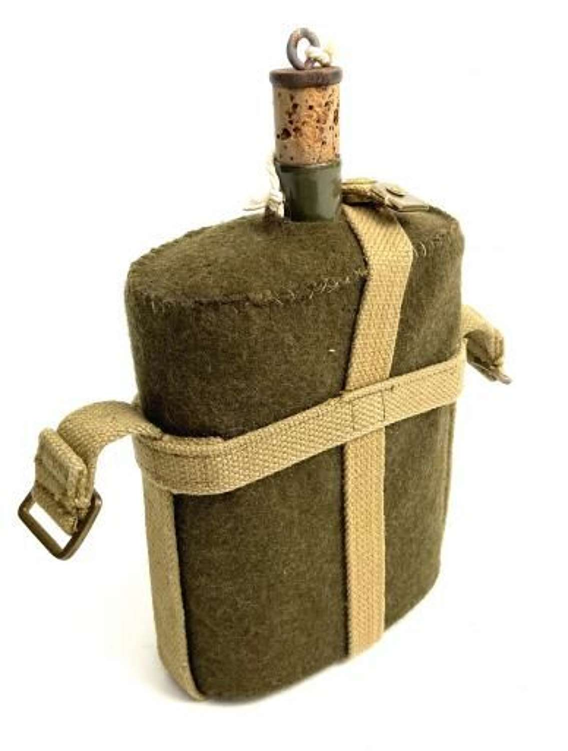 Original 1955 Dated British Army Water Bottle and Webbing Cradle