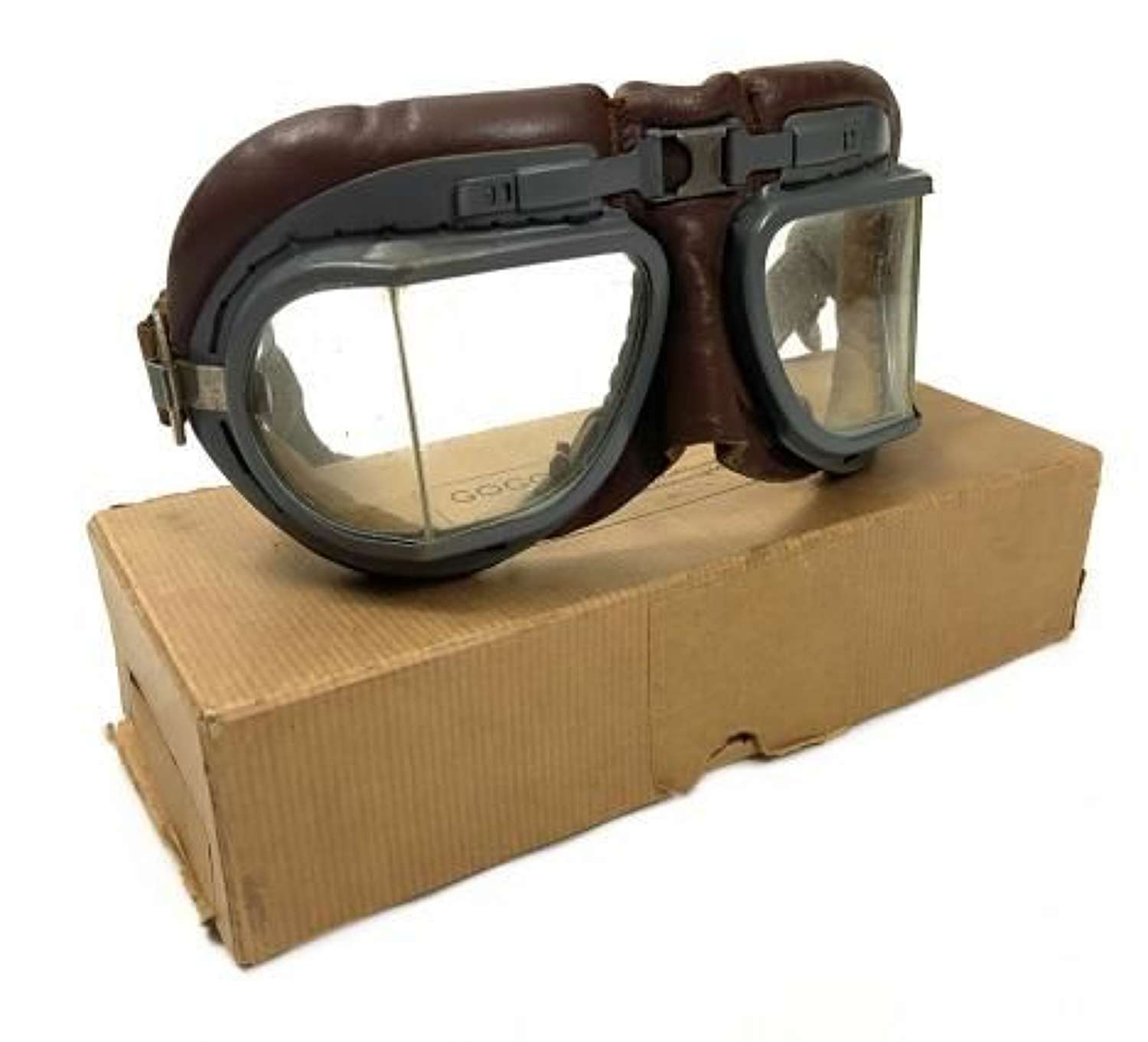 Original RAF MK VIII Flying Goggles + Box