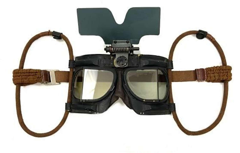 Original Battle of Britain Era MK IVB Flying Goggles + Flip Shield