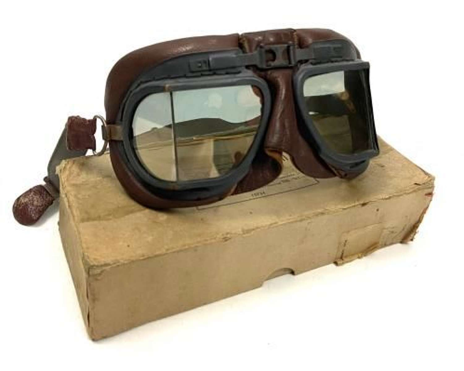 Original WW2 RAF MK VIII Goggles + Box