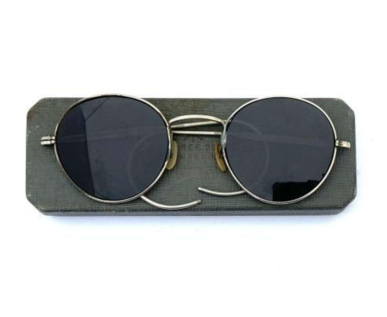 Original WW2 RAF MK VIII Anti Glare Spectacles + Box - Size Large