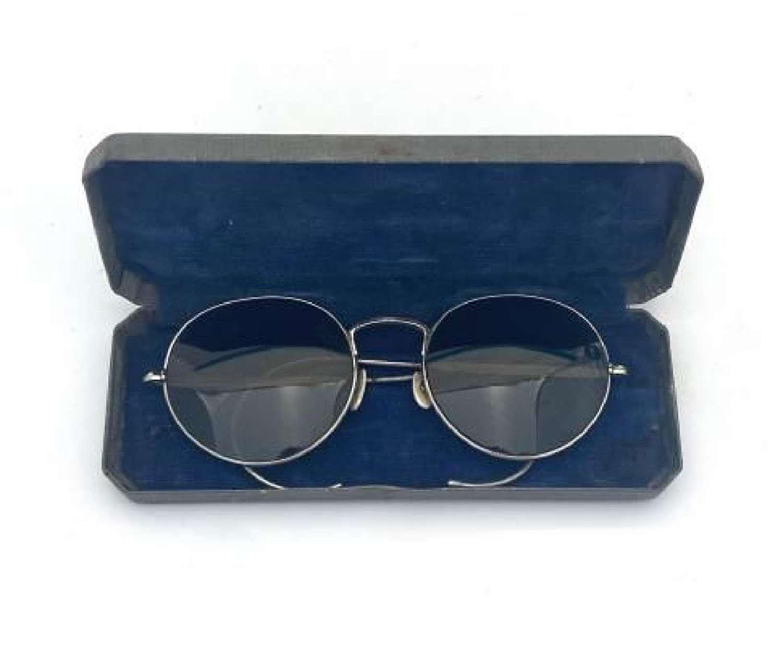 Original WW2 RAF MK VIII Anti Glare Spectacles + Case