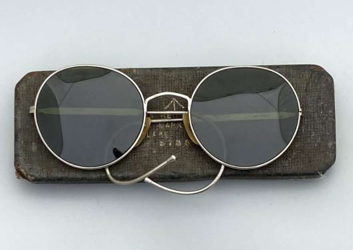 Original WW2 RAF Spectacles MK VIII A Aircrew Anti Glare + Case