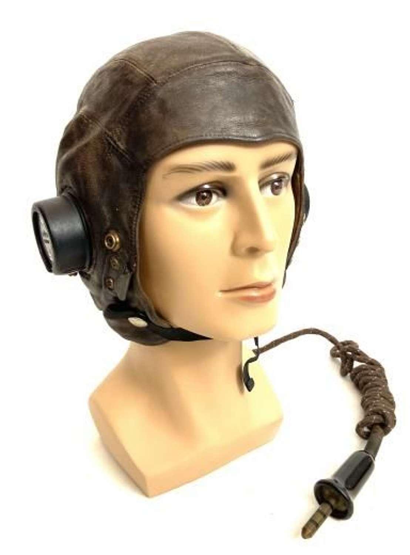 Original WW2 RAF C-Type Flying Helmet - Size 3