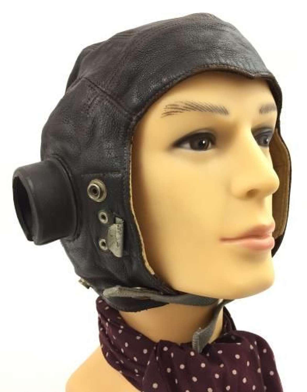 Original WW2 C-Type Flying Helmet - Size 3
