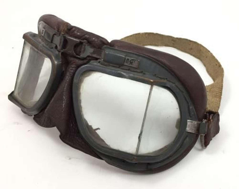 Orignal WW2 RAF MKVIII Flying Googles AM Marked