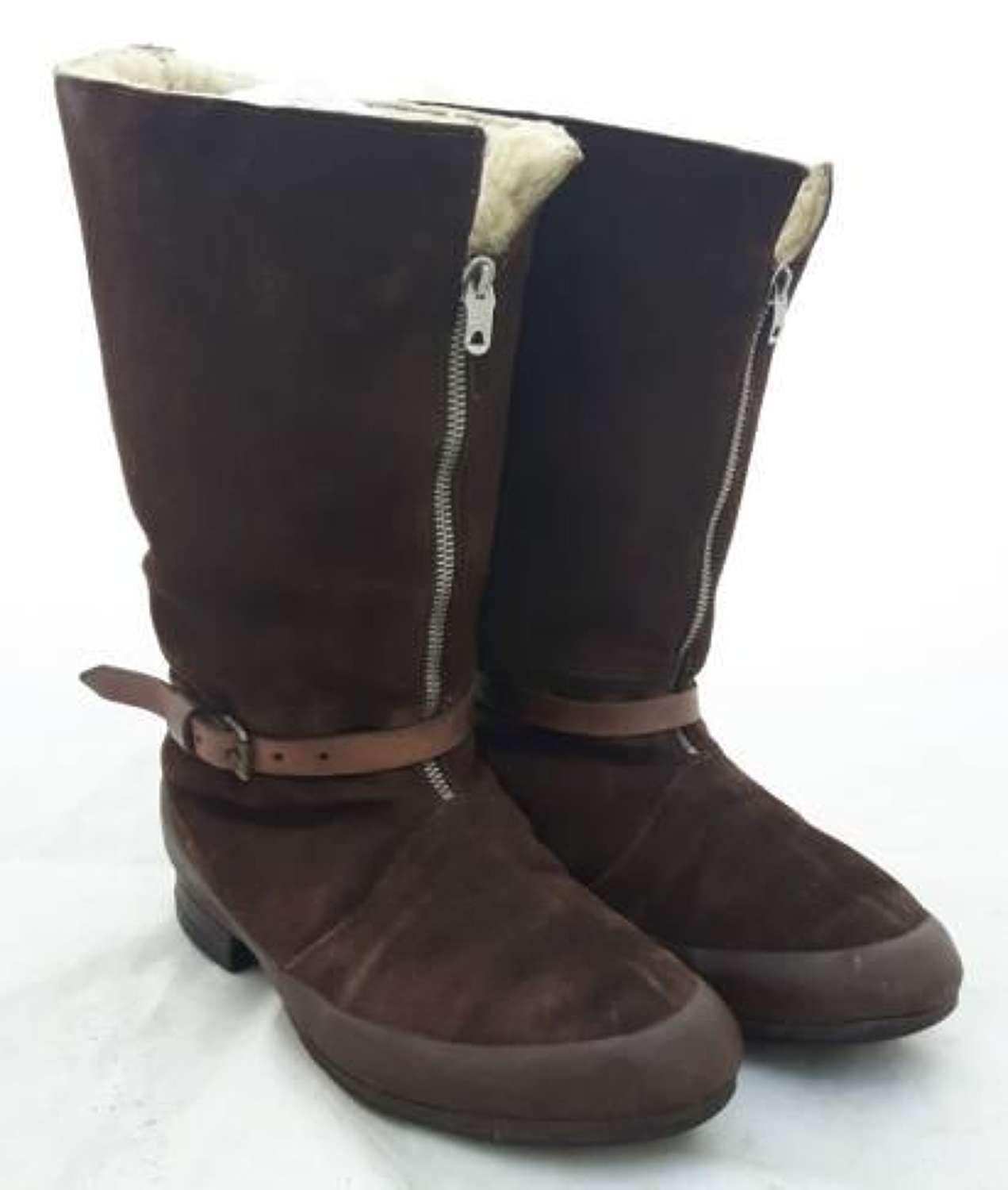 Oustanding 1941 Pattern Flying Boots With Brown Rubber - Size 9