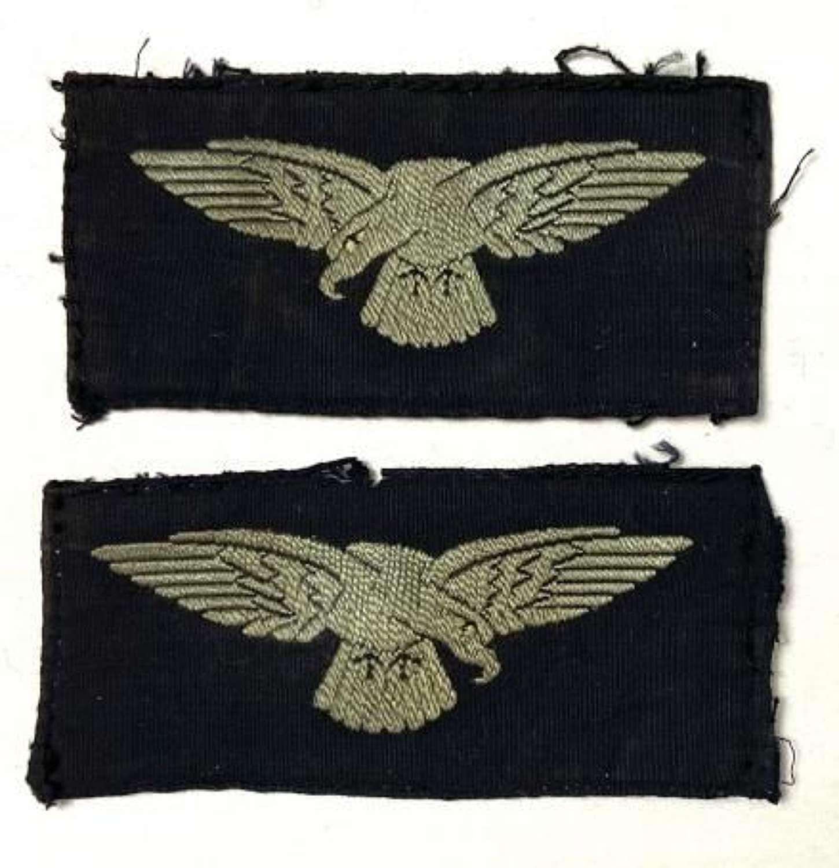 Original WW2 Semi Embroidered RAF Oridinary Airman's Albatross Sleeve Badges