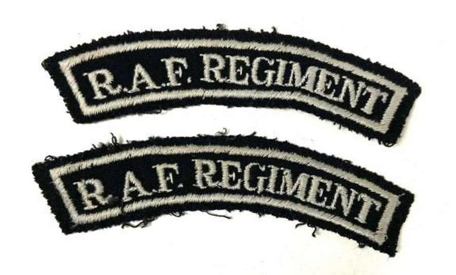 Embroidered RAF Regiment Shoulder Titles
