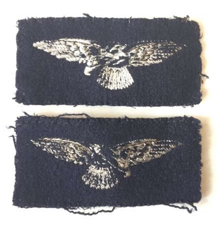 Original Early WW2 Embroidered RAF Albatross Sleeve Insgnia