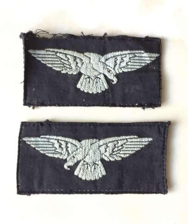 Orginal WW2 Semi Embroidered RAF Albatross Sleeve Insignia