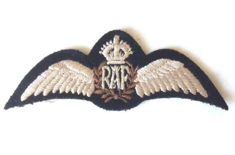 Original WW2 RAF Flat Pilots Wings