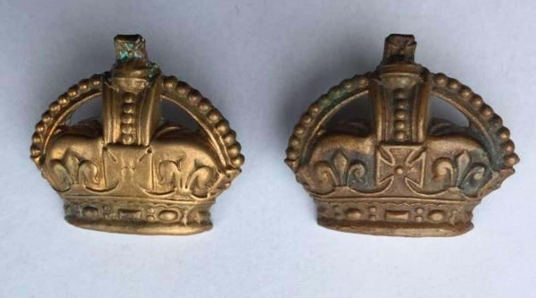 Original WW2 RAF Brass Flight Sergeant Crowns