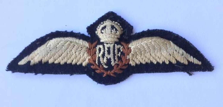 Original WW2 RAF Padded Pilots Wings
