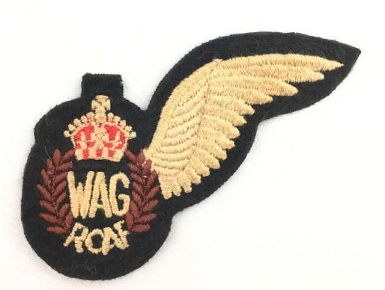 Original WW2 RCAF Wireless Operator Air Gunner Half Wing