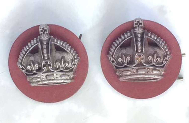 Scarce WW2 RAF Plastic Economy Flight Sergeant Rank Crowns