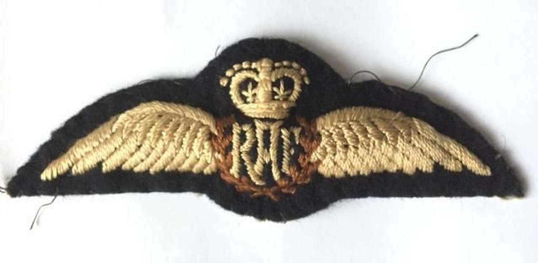 Original 1950s Queens Crown RAF Pilots Wings