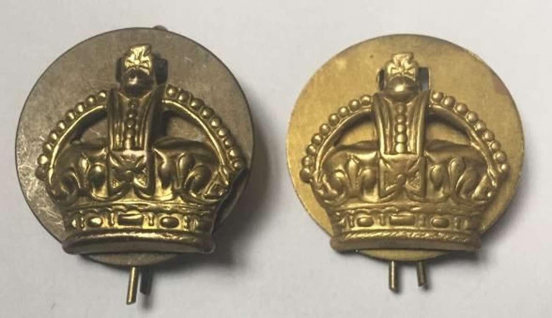 WW2 Period Brass RAF Flight Sergeant Crowns
