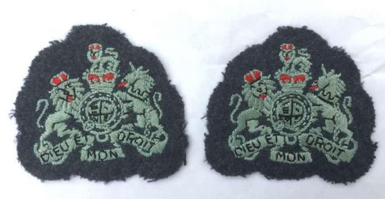 1950s RAF Warrant Officers Rank Badges