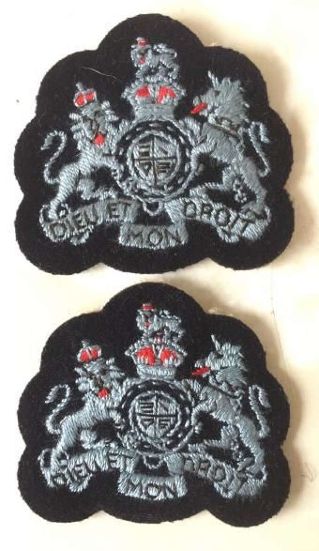 Original Matched Pair of RAF Warrant Officers Sleeve Badges (2)