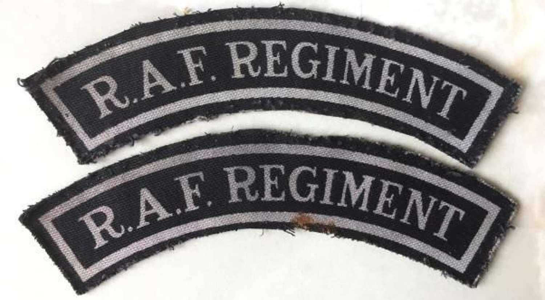 Printed RAF Regiment Shoulder Titles