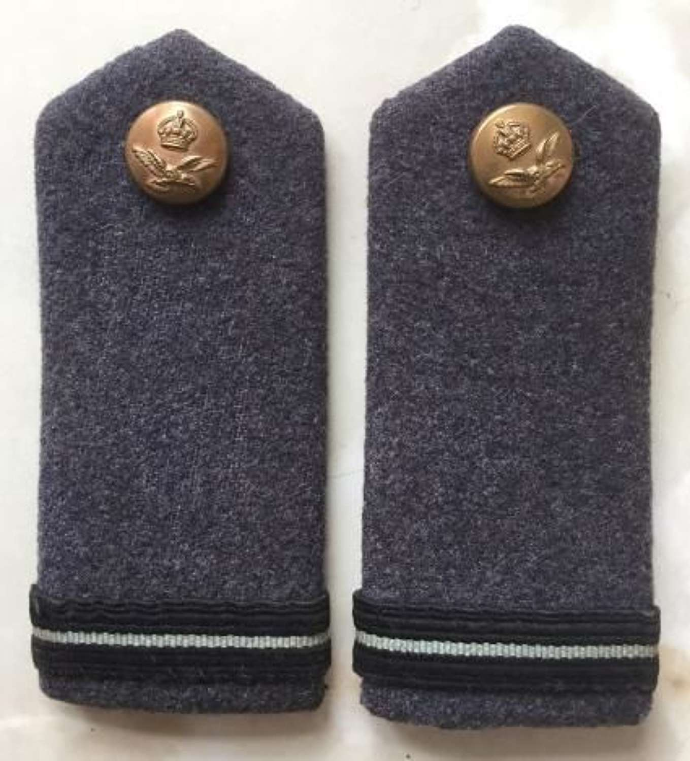 WW2 Period RAF Greatcoat Rank Boards - Flying Officer