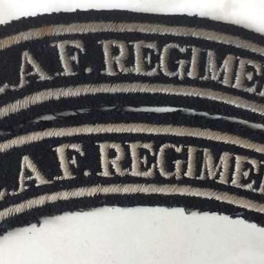 Embroidered RAF Regiment Shoulder Titles (1)