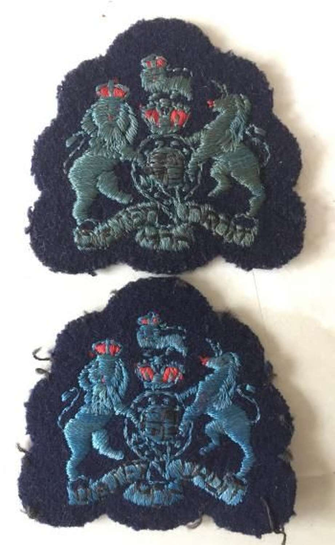 Pair of RAAF Warrant Officers Rank Badges