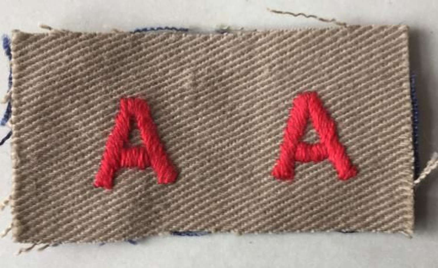 Original WW2 Period Tropical KD Matched Pair of Royal Auxiliary Reserve Sleeve Badges