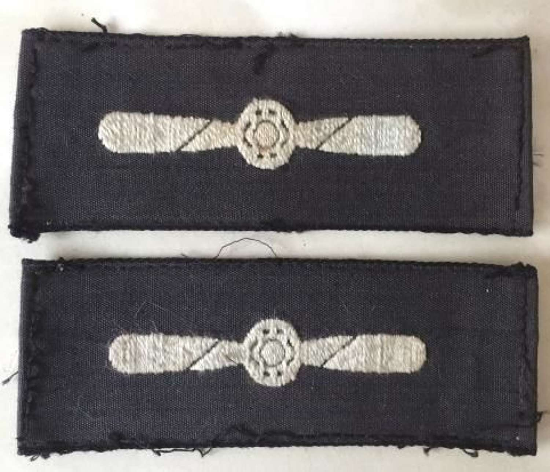Original WW2 Era semi-enbroidered LAC badges
