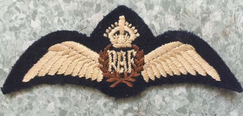 Original WW2 RAF Pilots Wings - Flat Type