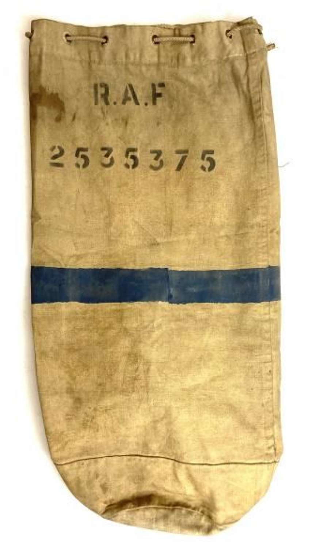 Original WW2 RAF White Kit Bag