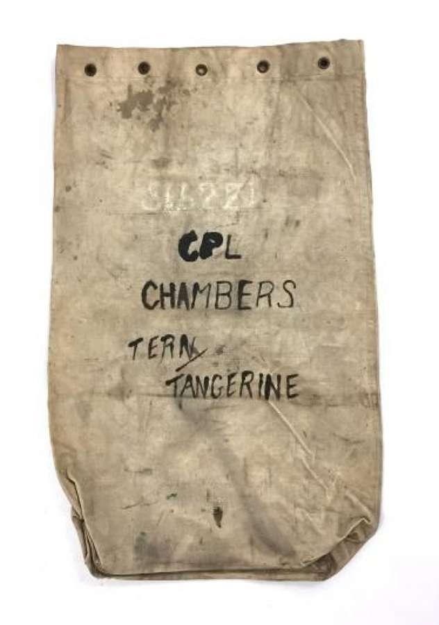 Original WW2 RAF Kit Bag - Cpl Chambers - Tern, Tangerine