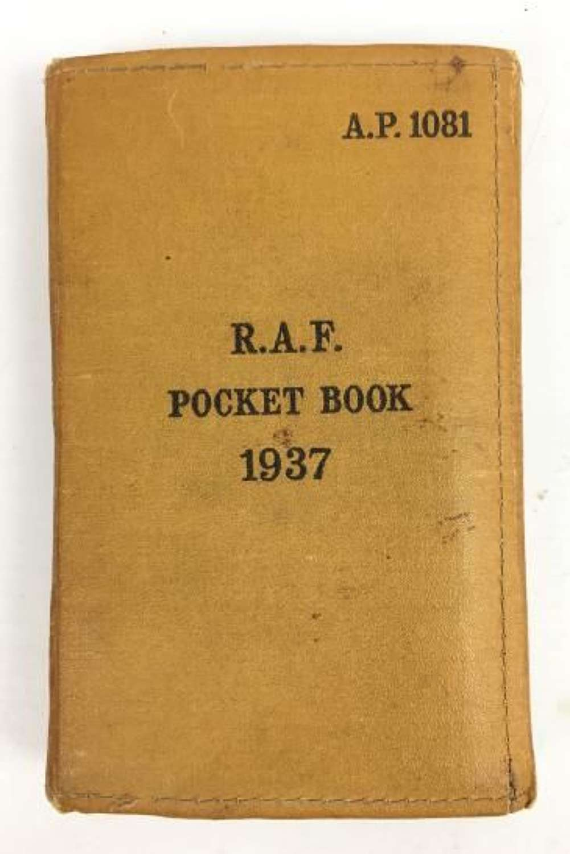 Original RAF 'Pocket Book 1937' Dated 1940