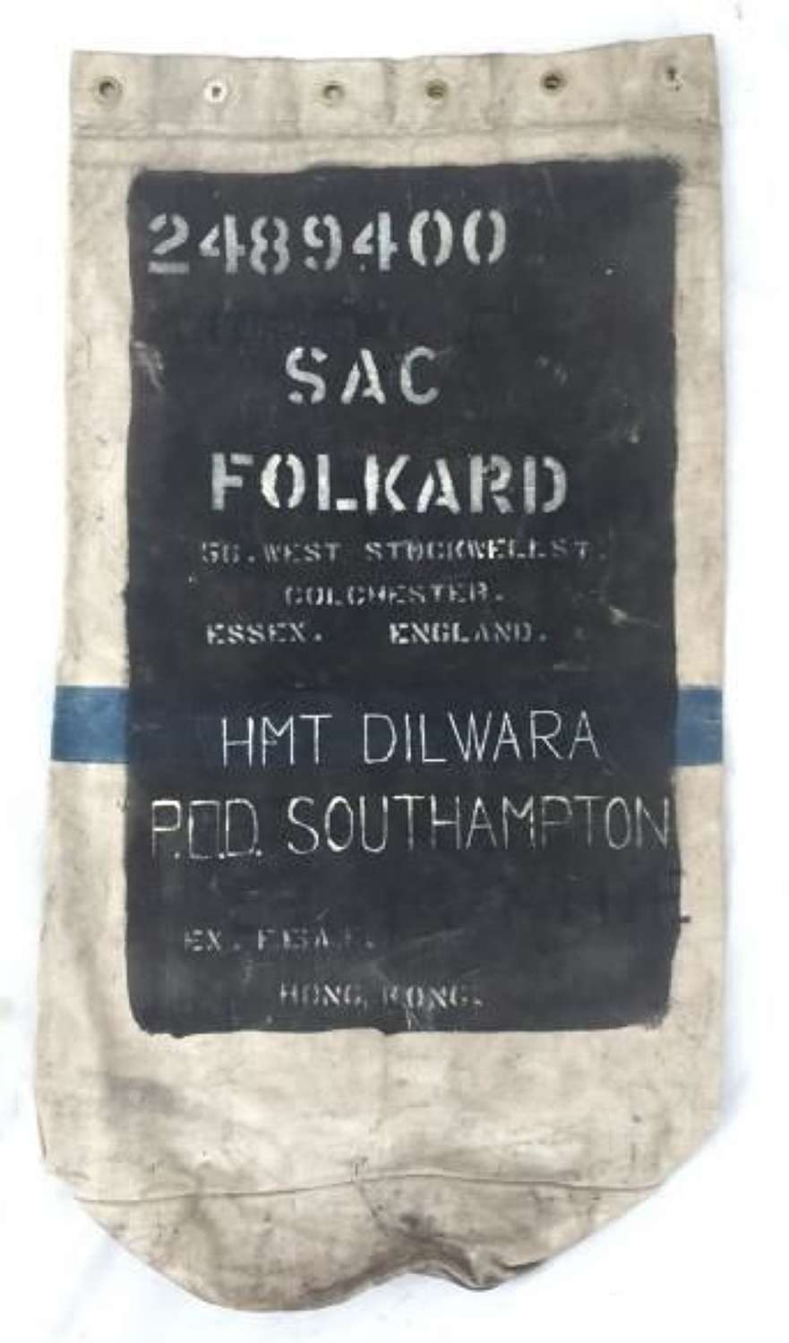 1942 Dated RAF Kit Bag - 'Folkard'