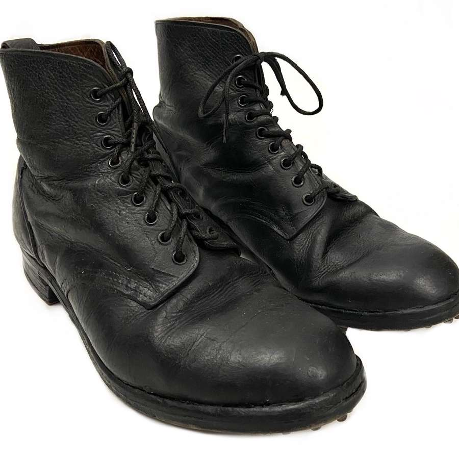 Scarce Original 1940 Dated RAF Ordinary Airman's Ankle Boots