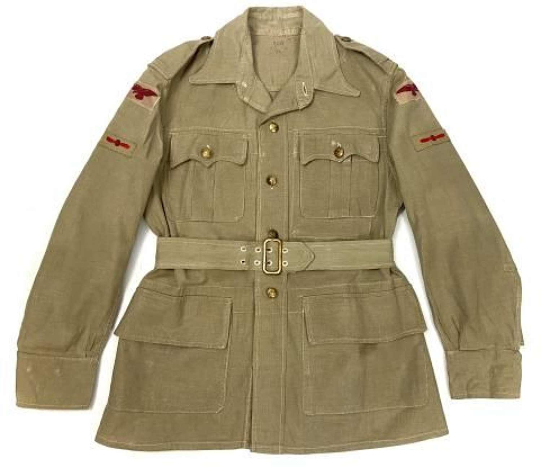 Original 1945 Dated RAF Aertex Bush Jacket - Size No.6